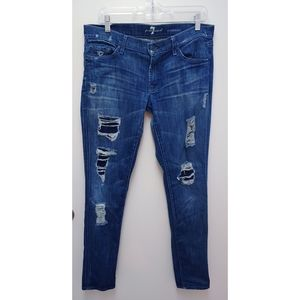 7 For All Mankind Roxanne Distressed Size 32